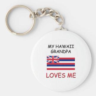My Hawaii Grandpa Loves Me Basic Round Button Keychain