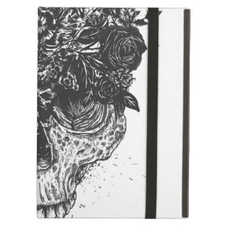 My head is a jungle (blackandwhite) iPad air case
