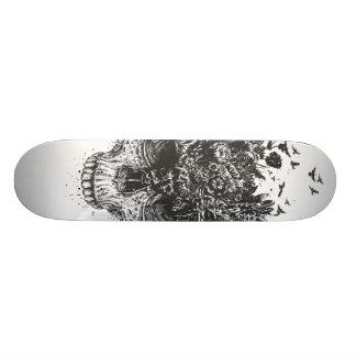My head is a jungle (blackandwhite) skateboard deck