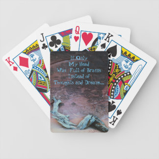 My Head Is Full Bicycle Playing Cards
