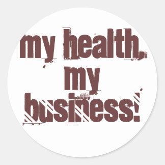 My Health, My Business! Round Stickers