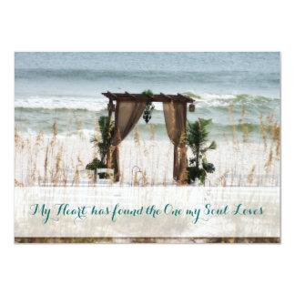 "My Heart Beach Destination Wedding Invitation 4.5"" X 6.25"" Invitation Card"
