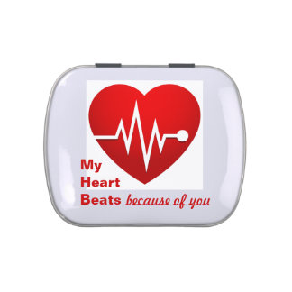 My Heart Beats Because of You Candy Tins