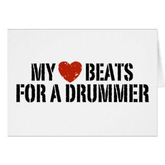 My Heart Beats For a Drummer Card