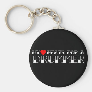 My Heart Beats For a Drummer Keychains