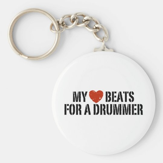 My Heart Beats For a Drummer Keychain