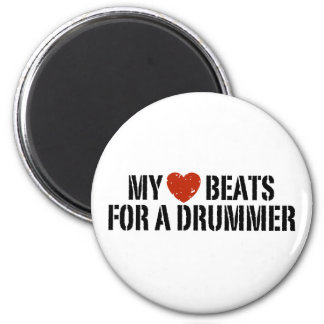My Heart Beats For a Drummer Refrigerator Magnets