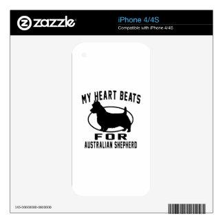 My Heart Beats For Australian Shepherd iPhone 4S Skins