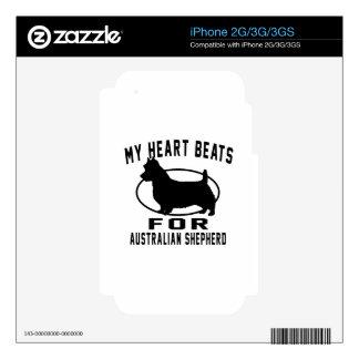 My Heart Beats For Australian Shepherd Skin For iPhone 3GS