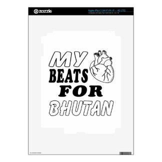 My Heart Beats For Bhutan. iPad 3 Skin