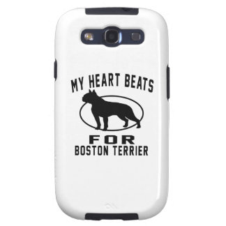 My Heart Beats For Boston Terrier. Samsung Galaxy S3 Covers