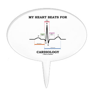 My Heart Beats For Cardiology (ECG / EKG) Cake Topper