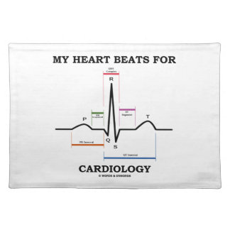 My Heart Beats For Cardiology (ECG / EKG) Cloth Placemat