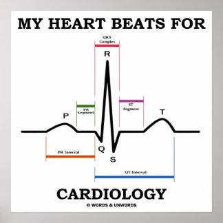 My Heart Beats For Cardiology (ECG / EKG) Poster