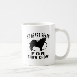 My Heart Beats For Chow Chow Classic White Coffee Mug