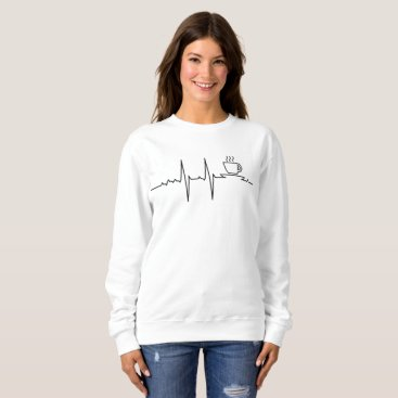 Valentines Themed My Heart beats for Coffee Sweatshirt