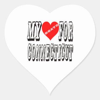 My Heart Beats For CONNECTICUT. Heart Sticker