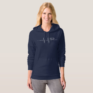 My Heart beats for Dog (negative) Hoodie