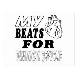 My Heart Beats For Dominican Republic. Postcard