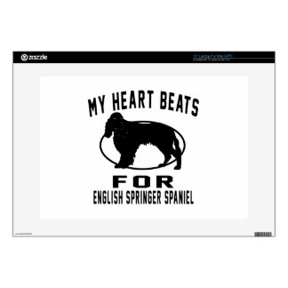 My Heart Beats For ENGLISH SPRINGER SPANIEL Decal For Laptop