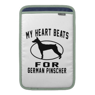 My Heart Beats For German Pinscher MacBook Sleeves