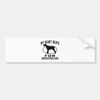 My Heart Beats For German Shorthaired Pointer Car Bumper Sticker
