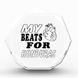 My Heart Beats For Honduras. Acrylic Award