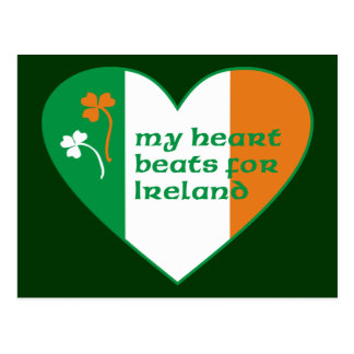 My heart beats for Ireland Postcard