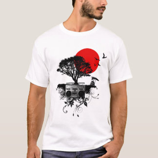 My Heart Beats for Japan on White T-Shirt