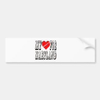 My Heart Beats For MARYLAND. Bumper Sticker