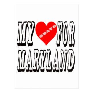 My Heart Beats For MARYLAND. Postcard
