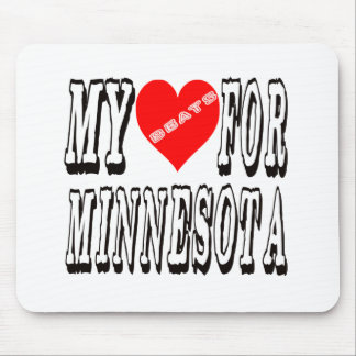 My Heart Beats For MINNESOTA. Mouse Pad
