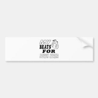 My Heart Beats For North Korea. Bumper Stickers