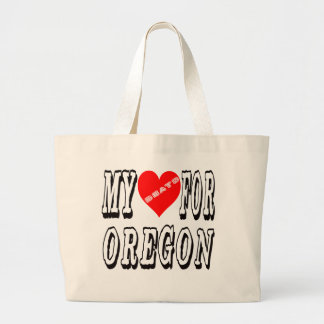 My Heart Beats For OREGON. Canvas Bags