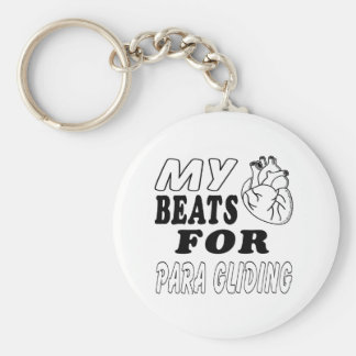 My Heart Beats For Para Gliding. Keychains