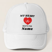My Heart Beats For Personalized Trucker Hat