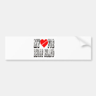 My Heart Beats For RHODE ISLAND. Bumper Stickers