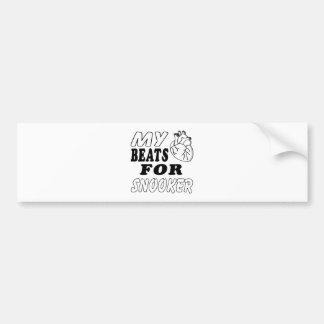My Heart Beats For Snooker. Car Bumper Sticker