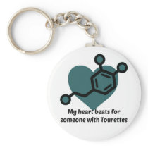 My heart beats for someone with Tourettes Keychain