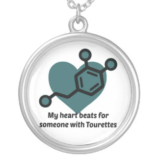 My heart beats for someone with Tourettes Silver Plated Necklace