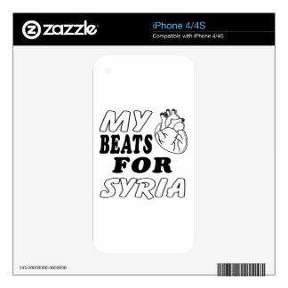 My Heart Beats For Syria. iPhone 4S Decal