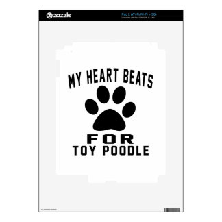 MY HEART BEATS FOR Toy Poodle Decal For iPad 2