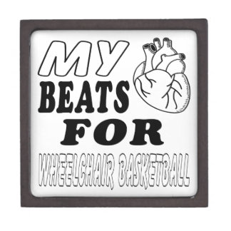 My Heart Beats For Wheelchair Basketball. Premium Gift Box