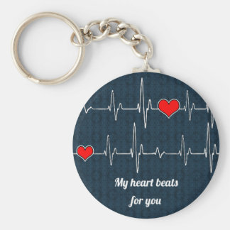 My heart beats for you and ECG Keychain