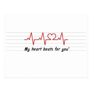 my heart beats for you card and stick