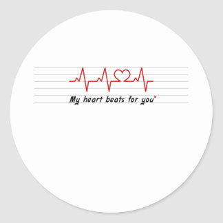 my heart beats for you card and stick stickers