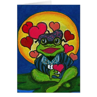 My Heart Beats For You Valentine Frog Cards
