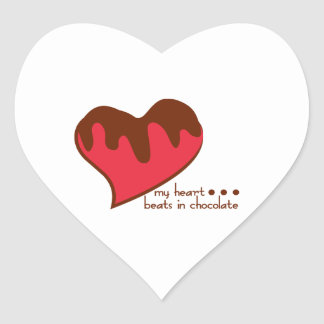 My Heart...Beats In Chocolate Stickers