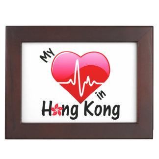 My Heart Beats in Hong Kong Keepsake Box