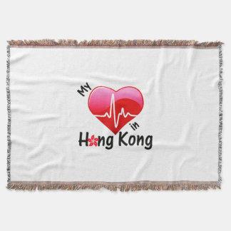 My Heart Beats in Hong Kong Throw